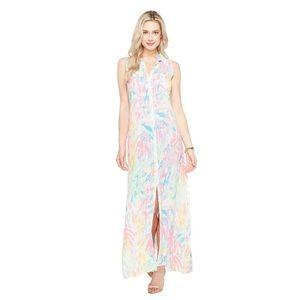 NWT Lilly Pulitzer Ezra Maxi Dress Pink Sparkling